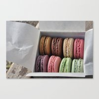 macaroons Canvas Prints featuring Macaroons  by Pri-Prianna