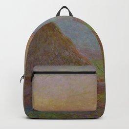 Grainstacks at Giverny - Claude MONET Backpack