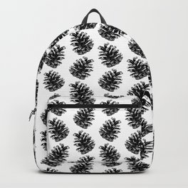 Pinecone Pattern - Black & White Backpack