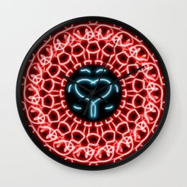 simetry heart Wall Clock