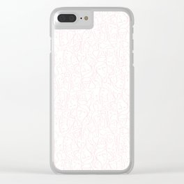 Elios Shirt Faces in Pale Pink Outlines on White CMBYN Clear iPhone Case