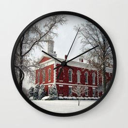 Side View of the Iron County Courthouse Wall Clock