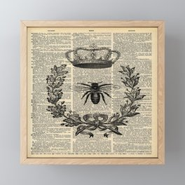 Paris french  garden farmhouse beekeeper honey bee queen Framed Mini Art Print