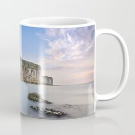Normandy English Channel coast rocks evening sunset France Coffee Mug