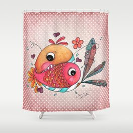 IN LOVE Shower Curtain