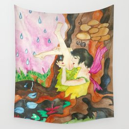Touch of Rain Wall Tapestry