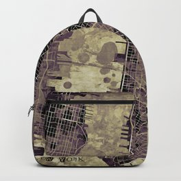 New York city map ink Backpack