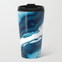 Blue Agate #1 #gem #decor #art #society6 Metal Travel Mug