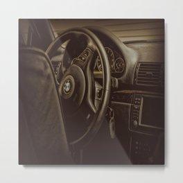 Driver Console Metal Print