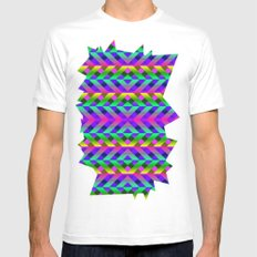 Rainbow Scaffolding Mens Fitted Tee MEDIUM White
