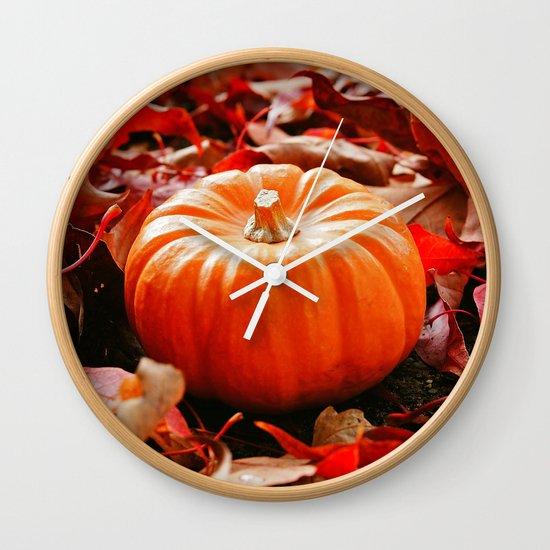 Samhain pumpkin Wall Clock