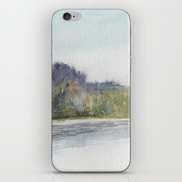 Pacific Northwest Columbia River Watercolor iPhone Skin