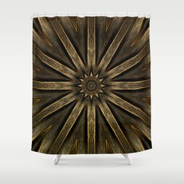 """Rusty Metal"" - Geometric Design Shower Curtain"