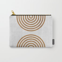 Perfect Equilibrium - Geometric Minimal - White 2 Carry-All Pouch