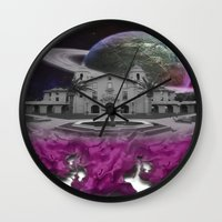 lebron Wall Clocks featuring Destroy & Rebuild by SaintCastro