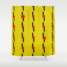 RED DOT YELLOW Shower Curtain