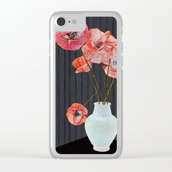 Still life with poppies Clear iPhone Case
