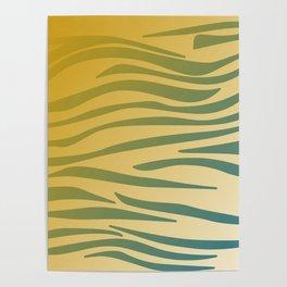 gold design exotic lines blocks Poster