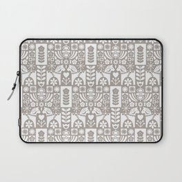 Swedish Folk Art - Warm Gray Laptop Sleeve