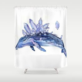 Crystal whale Shower Curtain