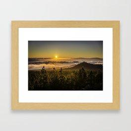 Sunset at 1800m Framed Art Print