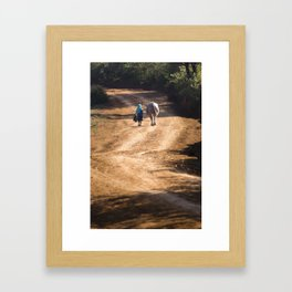 WALKING THE OX Framed Art Print