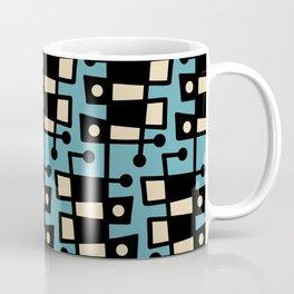 Mid Century Modern Abstract 212 Turquoise Coffee Mug