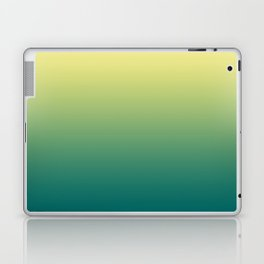 Yellow Lime Quetzal Green Ombre Gradient Pattern Laptop & iPad Skin