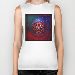 Kali Yantra with the Great Fifteen-Syllable Mantra Biker Tank