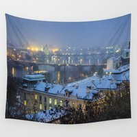 prague Wall Tapestries featuring Prague 2 by Veronika