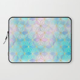 Iridescent Glass Geometric Pattern Laptop Sleeve