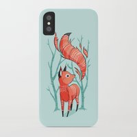 freeminds iPhone & iPod Cases featuring Winter Fox by Freeminds