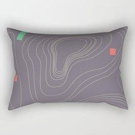 Map land color pattern Rectangular Pillow