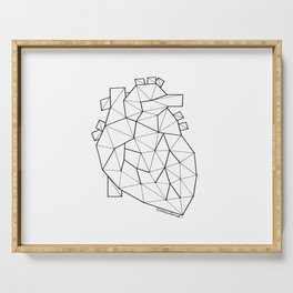 Minimal crystal heart anatomy Serving Tray