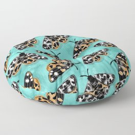Tiger Moths Floor Pillow