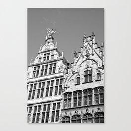 Antwerp in Black & White Canvas Print