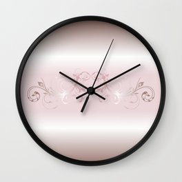 Dusky Pink Ornament Stripes Wall Clock