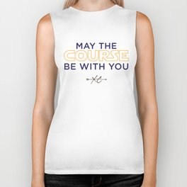 Purple & Gold: May the Course be With You Cross Country Biker Tank