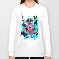 nba Long Sleeve T-shirts featuring Anthony Davis Nba illu V3 by mergedvisible
