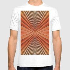 Geometric  pattern design White MEDIUM Mens Fitted Tee