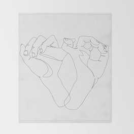 minimalist hand drawing Throw Blanket
