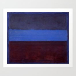 No.61 Rust and Blue 1953 by Mark Rothko Art Print