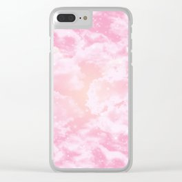 Starry Sunset Clear iPhone Case