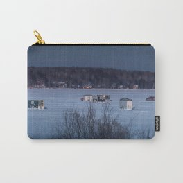 Ice Fishing on Fish Hook Lake Carry-All Pouch