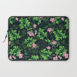 Forest Wildflowers / Dark Background Laptop Sleeve