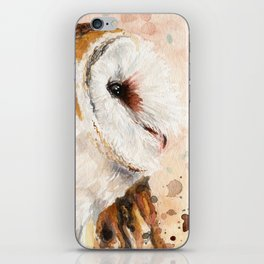 Rustic Barn Owl Artwork iPhone Skin