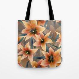 Orange lilies. Lily Tote Bag