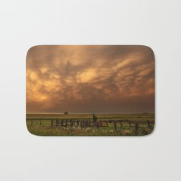 Afterglow - Clouds Glow After Storms at Sunset Bath Mat