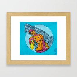 GIRL$ Framed Art Print
