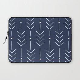 Arrow Lines Pattern in Navy Blue 2 Laptop Sleeve